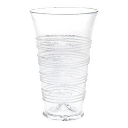 """Juliska - Juliska Ella Large Tumbler, Clear - Juliska Ella Lg. Tumbler Clear. An enduring favorite, Ella glass is at once, traditional and modern. Ideal for a cool drink, delightful when used as a vase to brighten any spot with flowers. Dimensions: 6"""" H Capacity: 16 oz"""