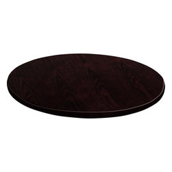 Flash Furniture - Flash Furniture 60 Inch Round Walnut Veneer Table Top - GM-WAL-VEN-60RD-GG - Complete your restaurant, break room or cafeteria with this durable and attractive table top. The top is comprised of a Medium-Density fiberboard core which makes it much denser and stronger than a typical plywood core. This table top is Designed for commercial use so you will be assured it will withstand the daily rigors in the hospitality industry. [GM-WAL-VEN-60RD-GG]