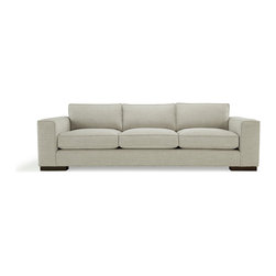 Mitchell Gold + Bob Williams - Damon Sofa - Keep it on the down low with this modern sofa. Styled with wide track arms, it features deep, plush seats for sink-in comfort. It'll look right at home in your contemporary living room or family room.