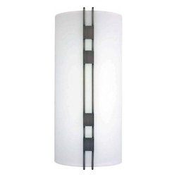 "Volume Lighting - Volume Lighting V6049 16.25"" Height Wall Washer Sconce - 16.25"" Height Wall Washer Sconce with 3 Lights and White GlassBold in black brushed nickel, this 3 light wall sconce features dazzling white glass in a fantastic rectangle shade.Features:"