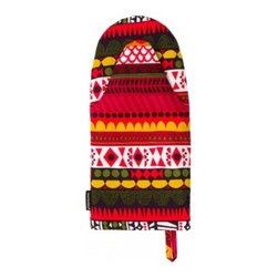Raanu Oven Mitt - As decorative as it is practical, the Raanu oven mitt by Sanna Annukka for Marimekko makes the humble task of taking supper out of the oven a fun event.