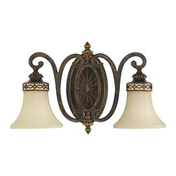 Murray Feiss - Murray Feiss Edwardian Traditional Wall Sconce X-LAW-20211SV - Simplicity meets elegance in this Murray Feiss Edwardian Traditional Wall Sconce. It features an oval backplate and gently scrolled arms in a rich and warm, walnut finish that support two shapely, English scarvo glass shades. It's a stunning piece that's sure to enhance the look of any room in your home, anywhere from the entryway to the hallway.