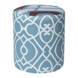 ACG Green - Charlie Dream Round Ottoman Multicolor - 6302-752753 - Shop for Ottoman & Footstools from Hayneedle.com! What's the best place in your space for theCharlie Dream Round Ottoman? We recommend that you bring one home and try it everywhere just to find out. We don't think you'll have trouble placing this vibrantly simple ottoman anywhere in your space. This chic addition is crafted with a hardwood body covered with pleasantly subtle padding under an exterior of soft cotton sateen. You only need a touch of spot-cleaning to maintain the vibrant look so you can keep enjoying it for years.About ACG Green Group Inc.ACG Green Group is a home furnishing company based in Irvine California and is a proud industry partner with the American Society of Interior Designers. ACG Green features Jennifer Taylor and Sandy Wilson their exclusive home decor lines. These two complete collections offer designer home furniture bedding sets dining linens curtains pillows and more in classic silhouettes original designs and rich colors to complement your home and life.