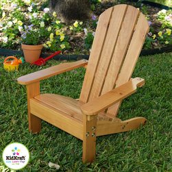 Kids chair - Adirondack kids Chair Honey - KidKraft adirondack kids chair is ideal piece for lazy days in the sun with your kidos. The sturdy all wood construction and choice of colors makes this a popular item among kids and parents as well.