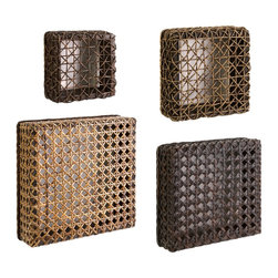 iMax - iMax Addel Woven Wall Cube Set X-4-68076 - Set of 4 cubes varied in size, ready to arrange creatively on your walls. Each cube featuring a complimentary woven design.