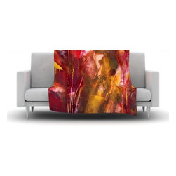 """Kess InHouse - Malia Shields """"Warmth"""" Orange Red Fleece Blanket (80"""" x 60"""") - Now you can be warm AND cool, which isn't possible with a snuggie. This completely custom and one-of-a-kind Kess InHouse Fleece Throw Blanket is the perfect accent to your couch! This fleece will add so much flare draped on your sofa or draped on you. Also this fleece actually loves being washed, as it's machine washable with no image fading."""