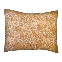 SheetWorld - SheetWorld Twin Pillow Case - Percale Pillow Case - Gold Floral - Made in USA - Pillow case is made of a durable all cotton percale material. Fits a standard twin size pillow. Features a Gold Floral print.
