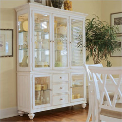 American Drew Camden Antique White China Cabinet - American Drew Camden Antique White China Deck