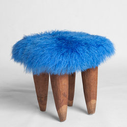 Blue Fufu Stool