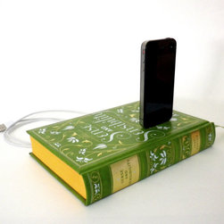 Jane Austen booksi, For The iPhone And iPod By Rich Neeley Designs - We bet Jane Austen never envisioned one of her novels being used in this way, but we think she would approve! A book charger is a perfectly romantic and discreet way to charge your iPhones and iPods.