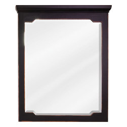 Hardware Resources - Chatham Shaker Jeffrey Alexander Mirror 28 x 1-1/2 x 34 - 28 x 34 Aged Black mirror with beveled glass