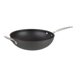 "Cuisinart - Cuisinart Chef's Classic Non-Stick Hard Anodized 12.5"" Stir-Fry Pan - Ideal for preparing mixed veggies, rice and noodle dishes"