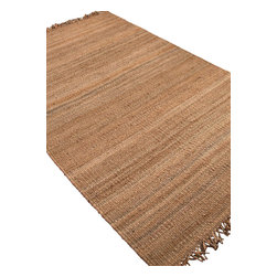 Jaipur - Natural Fiber Rugged 5'x8' Rectangle Natural Beige Area Rug - The Rugged area rug Collection offers an affordable assortment of Natural Fiber stylings. Rugged features a blend of natural Natural Beige color. Natural of 100% Hemp the Rugged Collection is an intriguing compliment to any decor.
