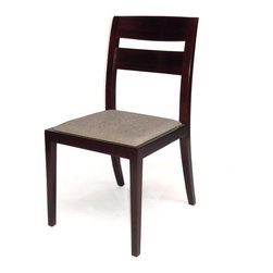 Gingko - Big Sur Dining Chair, Dark Walnut - Hold onto your seats. Handmade from gorgeous solid walnut, this sturdy dining-height chair features graceful legs, a lightly curved back and a soft upholstered seat. It's also available in dark or natural finishes — so you can pick your seats with ease.