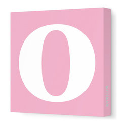 "Avalisa - Letter - Lower Case 'o' Stretched Wall Art, 28"" x 28"", Pink - Spell it out loud. These lowercase letters on stretched canvas would look wonderful in a nursery touting your little one's name, but don't stop there; they could work most anywhere in the home you'd like to add some playful text to the walls. Mix and match colors for a truly fun feel or stick to one color for a more uniform look."