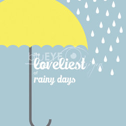 Rainy Days Print by BluEye Designs - People often think of rainy days as depressing, but this picture is just the opposite, and that's what I love about it.