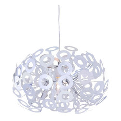 ZUO PURE - Phaser Ceiling Lamp Aluminum - The Phaser ceiling lamp's aluminum rings creates a unique glow that enhances any space. The lamp is UL approved. The height is fully adjustable for that perfect height.