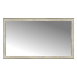 """Posters 2 Prints, LLC - 51"""" x 29"""" Libretto Antique Silver Custom Framed Mirror - 51"""" x 29"""" Custom Framed Mirror made by Posters 2 Prints. Standard glass with unrivaled selection of crafted mirror frames.  Protected with category II safety backing to keep glass fragments together should the mirror be accidentally broken.  Safe arrival guaranteed.  Made in the United States of America"""