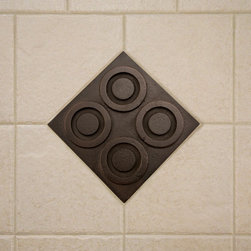 """4"""" Solid Bronze Wall Tile with Circle Design - Bronze Patina - Create an exquisite and dramatic focal point in your room with this solid bronze wall tile. Exclusive to Signature Hardware, this tile features a sleek, circle design with a warm, Bronze Patina finish."""