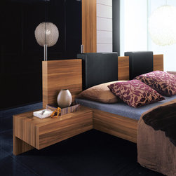 Gap Single Drawer Nightstand By Rossetto - Inspired by the warm earthtones of nature,the Gap Single Drawer Nightstand is an outstanding example of elegant Italian workmanship. Sophisticated and decidedly functional,it features a large single drawer in a gravity defying cantilever design.