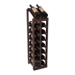 Wine Racks America - 2 Column 8 Row Display Top Kit in Redwood, Walnut Stain + Satin Finish - Display your best vintage while efficiently storing 16 wine bottles. This slim design is a perfect fit for almost any space. Our wine cellar kits are constructed to industry-leading standards. Display top wine racks are perfect for commercial or residential environments.