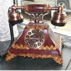 Vintage like Telephone- Design With Consignment Austin - Why, yes it works and is a standard plug-in. What a fun addition to your home. See more on Red Chair Market.