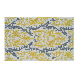 """The Rug Market - VINTAGE ,Area Rug ,size   22"""" x 34"""" - This contemporary rug is made of UV Poly and will surely add color to any space"""