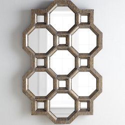 Carrara Honeycomb Mirror - I am loving this bold, geometric and stunning statement mirror in a honeycomb pattern. Those glamorous bees must have created this one.