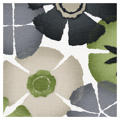 Gray & Green Giant Ombre Botanical Fabric - Ombre gray & green giant citrus floral for a modern, abstract accent to your decor.Recover your chair. Upholster a wall. Create a framed piece of art. Sew your own home accent. Whatever your decorating project, Loom's gorgeous, designer fabrics by the yard are up to the challenge!