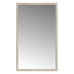 """Posters 2 Prints, LLC - 43"""" x 71"""" Libretto Antique Silver Custom Framed Mirror - 43"""" x 71"""" Custom Framed Mirror made by Posters 2 Prints. Standard glass with unrivaled selection of crafted mirror frames.  Protected with category II safety backing to keep glass fragments together should the mirror be accidentally broken.  Safe arrival guaranteed.  Made in the United States of America"""