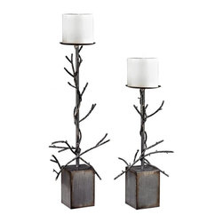 Sterling Industries - Set Of 2 Branch Candle Holders - SET OF 2 BRANCH CANDLE HOLDERS