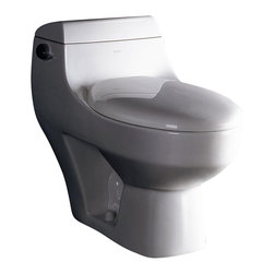Ariel Bath - Ariel Platinum Athena Contemporary Toilet - Ariel cutting-edge designed one-piece toilets with powerful flushing system. Its a beautiful, modern toilet for your contemporary bathroom remodel.