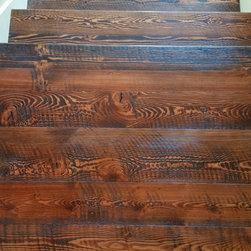 Douglas Fir Flooring - Rough sawn hardwood flooring