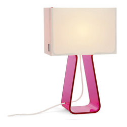 Pablo Designs - Tube Top Table Lamp in Pink - Features: