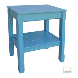Tradewinds - Cottage Plank Side Table, White - Accentuate the dull corners of your living room with this striking cottage plank side table. This wonderful creation stands high on its sturdy legs and features a lower shelf to keep your miscellaneous items. Various finish options are present in this hand painted furniture, so you can easily get the one suiting your settings perfectly.