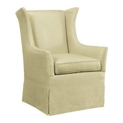 7636-21-Jackson Skirted Wing Chair -