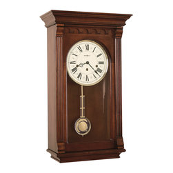 Howard Miller - Howard Miller Chiming Key Wound Grandfather Wall Clock | ALCOTT - 613229 Alcott