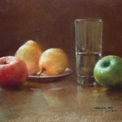 Apples And Pears (Original) by Sabrina Zhou - This is an original pastel painting.