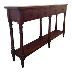 Narrow Console Sofa Table - $1,400 Est. Retail - $675 on Chairish.com -