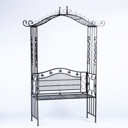 Bench with Arbor Set - Add interest to your garden with a Bench and Arbor set.
