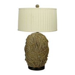 Cal Lighting - Terra Cotta 150W Resin Table Lamp in Tan Finish - Requires 150W bulb (not included). 3-Way. Resin table lamp. Tan finish