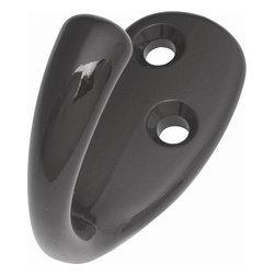 Hickory Hardware - Utility Hooks Collection - Hook (Set of 10) (Black) - Finish: Black.