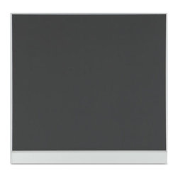 "Iceberg - Iceberg Mesh Fabric Bulletin Board, 48""x46"", Gray - Bold simplicity by design. Contemporary gray mesh fabric with aluminum frame. Mantel ledge supports display boards. Modular design with minimal side frame to flush fit side by side, combine with Polarity whiteboards, or stand alone. Secure mounting from built-in channel."