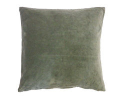 JITI - Moss Velvet Pillow - Who can resist a classic? With this velvet throw pillow, available in oodles of sizes and colors, you won't have to! Ideal for mixing and layering, go ahead and experiment. Change your look as often as you can move this one here, and that one there. Anywhere it lands, it's a perfect fit.