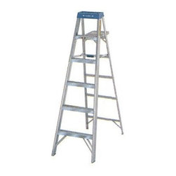 Werner 6 ft. Aluminum Step Ladder - The OSHA-certified Werner 6 ft. Aluminum Step Ladder is great for at-home or professional use. It's built entirely of sturdy aluminum with a molded blue top that holds a quart can and small parts. An added paint roller tray and can hanger make it the perfect ladder for painting walls and ceilings and the slip resistant treading means you can climb up and down without a care in the world! Measuring 6 feet high, this ladder is perfect for vaulted ceilings and its 225 lb. weight capacity allows you to haul up much needed supplies like shingles, paint, or tools. No home or jobsite should be without this quality step ladder by Werner!About WernerWhen you're headed up high for work, nothing is more important that safety and trust. Werner is the #1 brand in professional climbing equipment, offering a reputation as stable as their products. Every professional-grade product from Werner is designed, tested, and life-cycle evaluated by experienced professionals to never let you down.