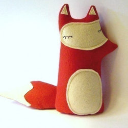 Liam the Sleepy Woodland Fox by Sleepy King - One of my favorite Etsy shops for plush toys, Sleepy King makes the most adorable woodland creatures. This fox is too sweet with his red felt coat and sleepy little eyes.