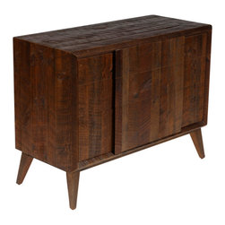 Reclamation Company - Hemingway Chest, Antique Pine, Bourbon - Mid century modern is an architectural, interior, product and graphic design that generally describes mid-20th century developments in modern design, architecture and urban development from roughly 1933-1965.  We liked this movement in furniture and created the Hemingway collection to complement it.  This line is partially made from wood reclaimed from the Old Crow Distillery in Kentucky and is truly one of a kind.  Because this is a unique handmade piece, please allow a 4 to 6 week lead time. Note: Please use the swatch image for an indication of the wood and finish options.