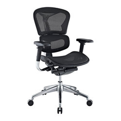 Lift Mesh Ergonomic Executive Chair in Black