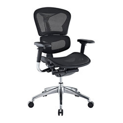 LexMod - Lift Mesh Ergonomic Executive Chair in Black - Years of extensive research have paid off to develop the Lift mesh chair. Alleviate back pain with a proprietary dual-plane system that supports both the lumbar and shoulder regions. The wide angle waterfall seat pan eases under-thigh pressure while keeping weight off your lower vertebrae. Easily personalize Lift with seat depth controls that adjust to your build and posture.