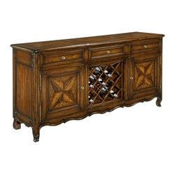 EuroLux Home - Orleans Sideboard New Solid Hardwood Oak - Product Details